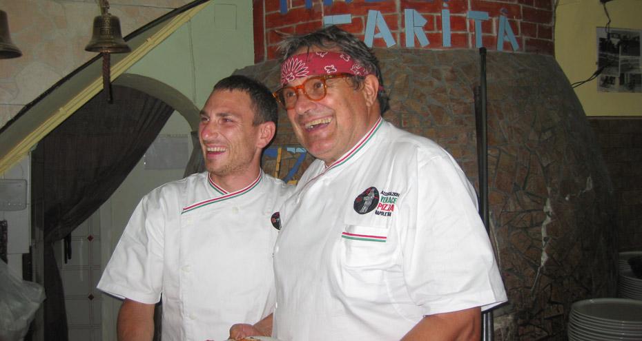 Oliviero Toscani da Mattozzi per il progetto 100% Pizza