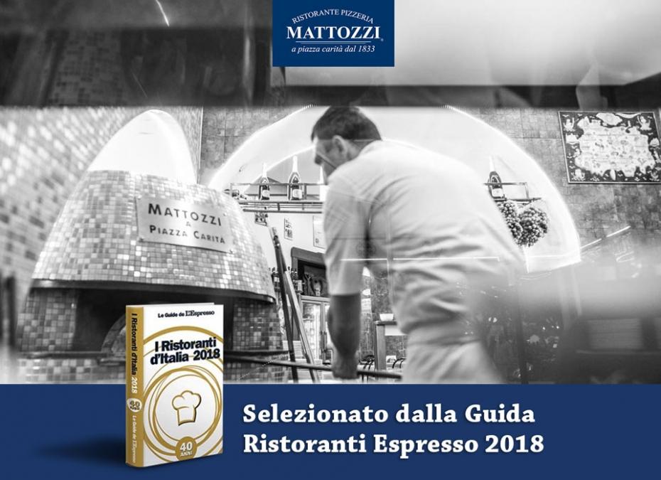 Mattozzi selzionato nella Guida Ristoranti Espresso 2018