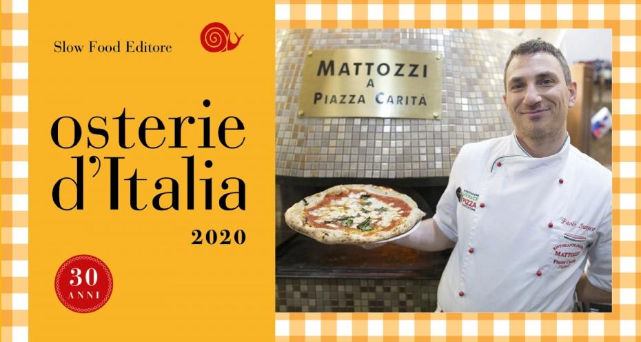 Mattozzi presente anche nel 2020 nella guida Osterie d'Italia